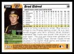 2005 Topps Update #59  Brad Eldred  Back Thumbnail