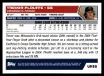 2005 Topps Update #95  Trevor Plouffe  Back Thumbnail