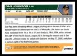 2005 Topps Update #103  Dan Johnson  Back Thumbnail
