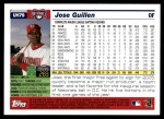 2005 Topps Update #79  Jose Guillen  Back Thumbnail