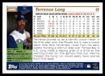 2005 Topps Update #60  Terrence Long  Back Thumbnail