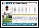 2005 Topps Update #64  Antonio Alfonseca  Back Thumbnail