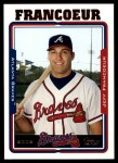 2005 Topps Update #2  Jeff Francoeur  Front Thumbnail
