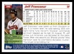 2005 Topps Update #2  Jeff Francoeur  Back Thumbnail