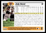 2005 Topps Update #24  Jody Gerut  Back Thumbnail