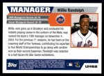 2005 Topps Update #88  Willie Randolph  Back Thumbnail