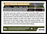 2005 Topps Update #130  Roy Oswalt   Back Thumbnail