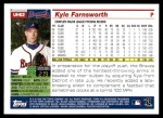 2005 Topps Update #62  Kyle Farnsworth  Back Thumbnail