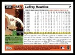 2005 Topps Update #46  LaTroy Hawkins  Back Thumbnail