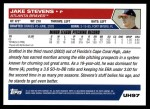 2005 Topps Update #97  Jake Stevens  Back Thumbnail