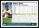 2005 Topps Update #43  Miguel Ojeda  Back Thumbnail