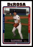 2005 Topps Update #42  Mark DeRosa  Front Thumbnail