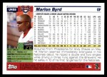 2005 Topps Update #55  Marlon Byrd  Back Thumbnail