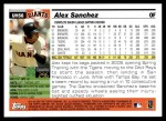 2005 Topps Update #56  Alex Sanchez  Back Thumbnail