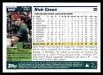 2005 Topps Update #47  Nick Green  Back Thumbnail