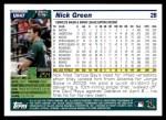 2005 Topps Update #47  Nick Green  Back Thumbnail