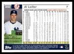 2005 Topps Update #40  Al Leiter  Back Thumbnail