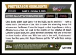 2005 Topps Update #119  Chris Burke / Lance Berkman / Adam LaRoche   Back Thumbnail