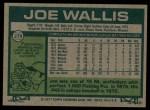 1977 Topps #279  Joe Wallis  Back Thumbnail