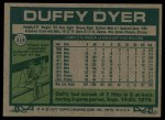 1977 Topps #318  Duffy Dyer  Back Thumbnail