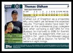 2005 Topps Update #240  Thomas Oldham   Back Thumbnail