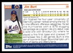2005 Topps Update #223  Jim Burt   Back Thumbnail