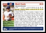 2005 Topps Update #274  Buck Coats   Back Thumbnail
