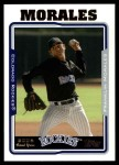2005 Topps Update #306  Franklin Morales   Front Thumbnail