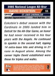2005 Topps Update #193   -  David Eckstein All-Star Back Thumbnail