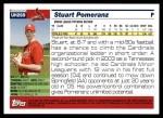 2005 Topps Update #269  Stuart Pomeranz   Back Thumbnail