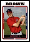 2005 Topps Update #309  Matt Brown   Front Thumbnail