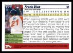 2005 Topps Update #310  Frank Diaz   Back Thumbnail