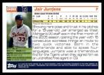2005 Topps Update #282  Jair Jurrjens   Back Thumbnail