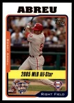 2005 Topps Update #185   -  Bobby Abreu All-Star Front Thumbnail