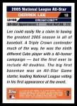 2005 Topps Update #188   -  Derrek Lee All-Star Back Thumbnail