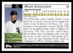 2005 Topps Update #276  Micah Schnurstein   Back Thumbnail