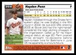 2005 Topps Update #248  Hayden Penn   Back Thumbnail