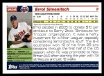 2005 Topps Update #246  Errol Simonitsch   Back Thumbnail
