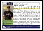 2005 Topps Update #278  Jake Postlewait   Back Thumbnail
