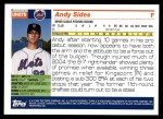 2005 Topps Update #275  Andy Sides   Back Thumbnail