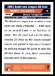 2005 Topps Update #181   -  Mark Teixeira All-Star Back Thumbnail