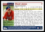 2005 Topps Update #301  Chuck James   Back Thumbnail
