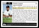 2005 Topps Update #251  Pedro Lopez   Back Thumbnail