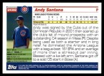 2005 Topps Update #302  Andy Santana   Back Thumbnail