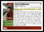 2005 Topps Update #307  Jared Gothreaux   Back Thumbnail