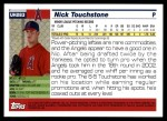 2005 Topps Update #283  Nick Touchstone   Back Thumbnail