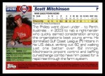 2005 Topps Update #288  Scott Mitchinson   Back Thumbnail
