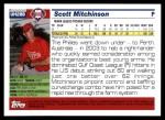 2005 Topps Update #288  Scott Mitchinson   Back Thumbnail