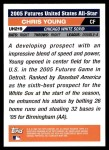 2005 Topps Update #219  Chris B.Young  Back Thumbnail