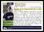 2005 Topps Update #303  Manny Parra   Back Thumbnail